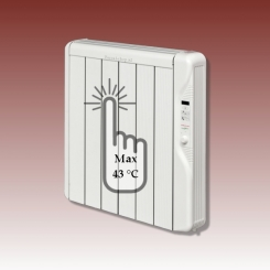 Elektrische radiator laag temperatuur 775w